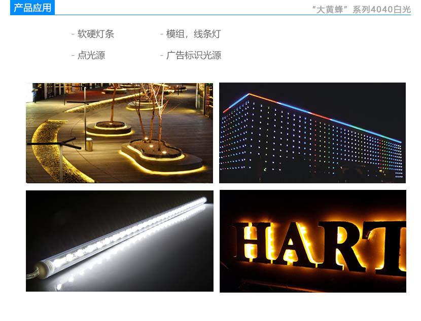 大黄蜂系列4040白光led灯珠产品应用